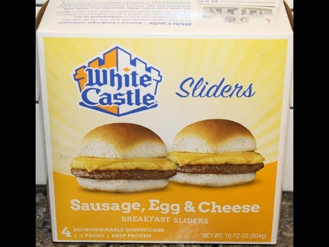White Castle Sliders: Sausage, Egg & Cheese Breakfast Sliders Review