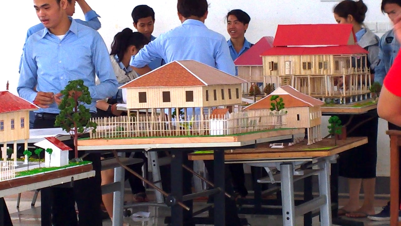 Khmer Architectural Student In Cambodia Present Of Khmer House Design#part 3