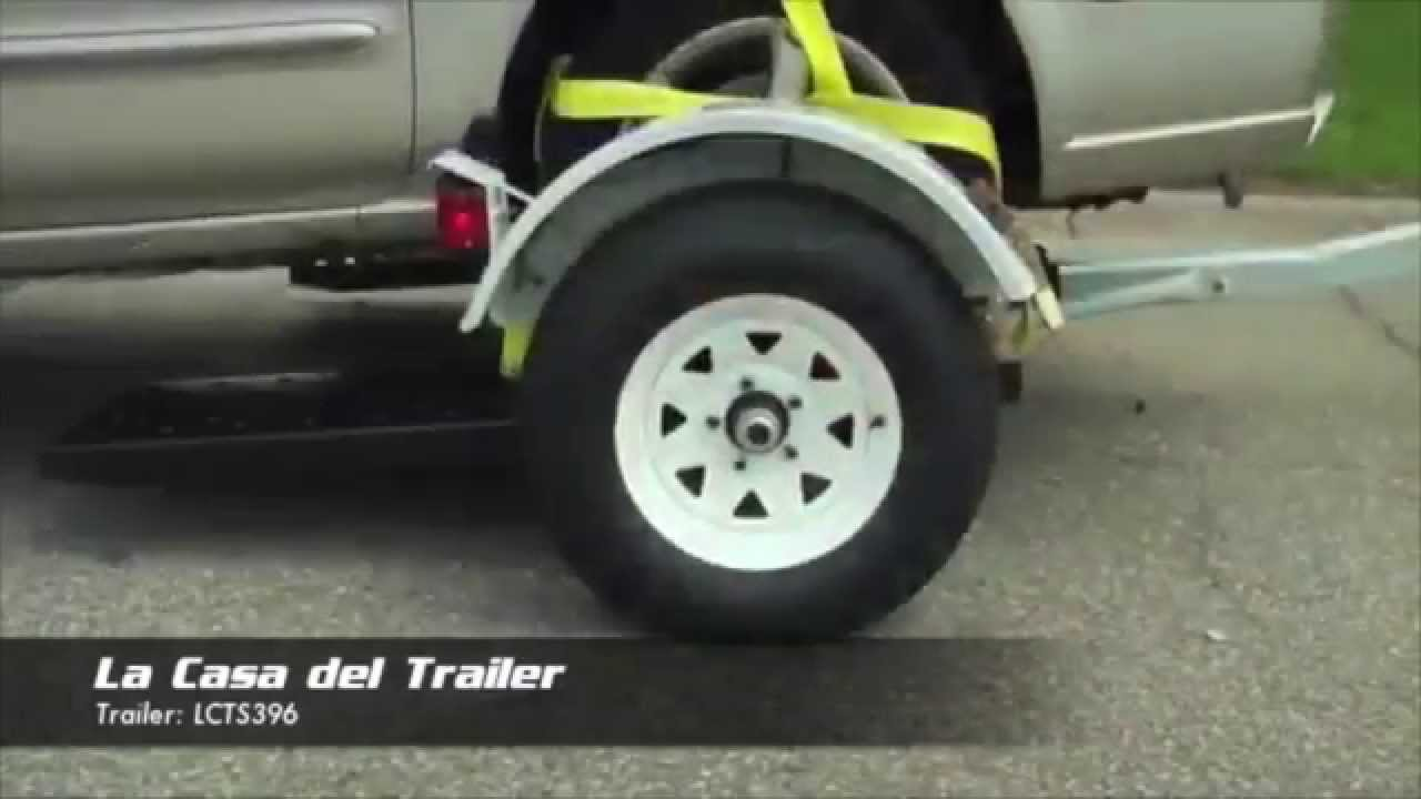 Lcts396 Trailer Dolly Para Autos Youtube