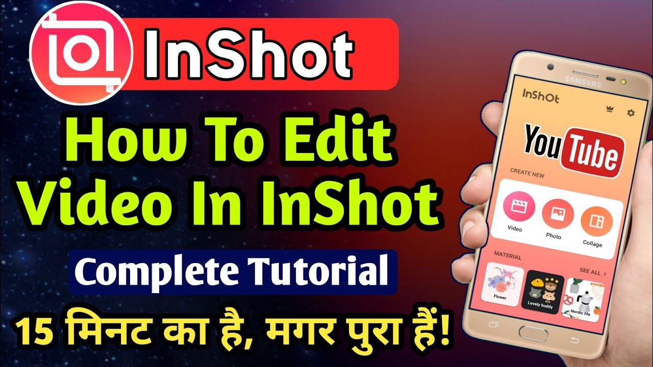 Inshot Video Editing App How To Edit Video In Inshot App Video Editing App Inshot Tutorial Youtube