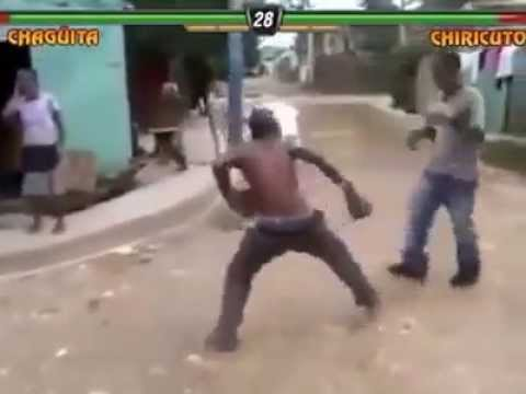 Watch this funny men in a mortal kombat fight is funny&interesting