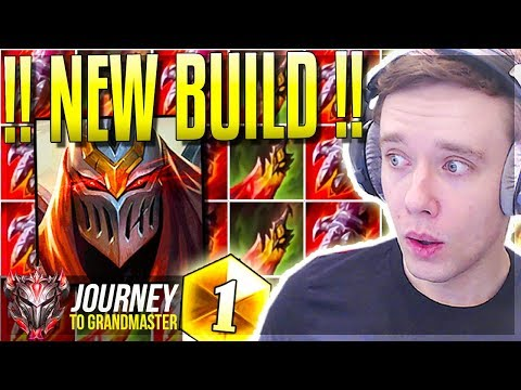 THE NEW ZED BUILD!! FINALLY OP? - Journey To Grandmaster | League of Legends