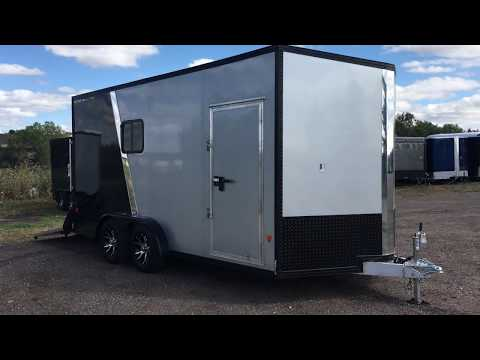 New Stealth Trailer All Aluminum 7.5x16 Insulated With Windows