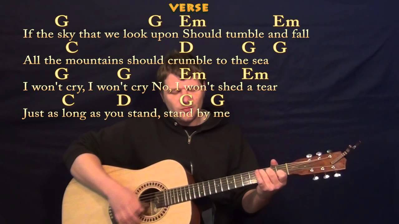 Stand By Me Ben E King Guitar Strum Cover Lesson In G With Lyrics