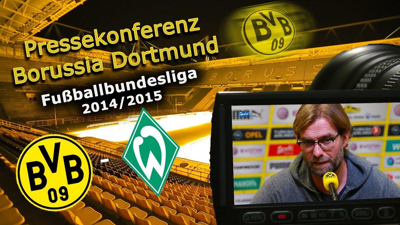 Borussia Dortmund - SV Werder Bremen : Pk mit Jürgen Klopp