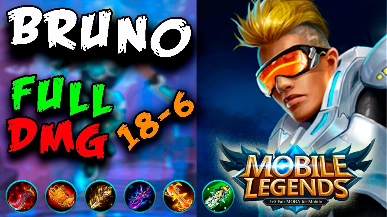 MOBILE LEGENDS BRUNO BUILD FULL DAMAGE ESPAOL 18 6 EL