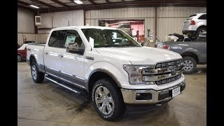 2018 White Platinum Metallic Ford F150 Lariat Long Box FT6409 Motor Inn Auto Group