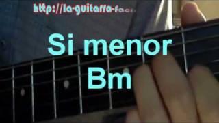 clase de guitarra acustica acordes menores principiantes facil
