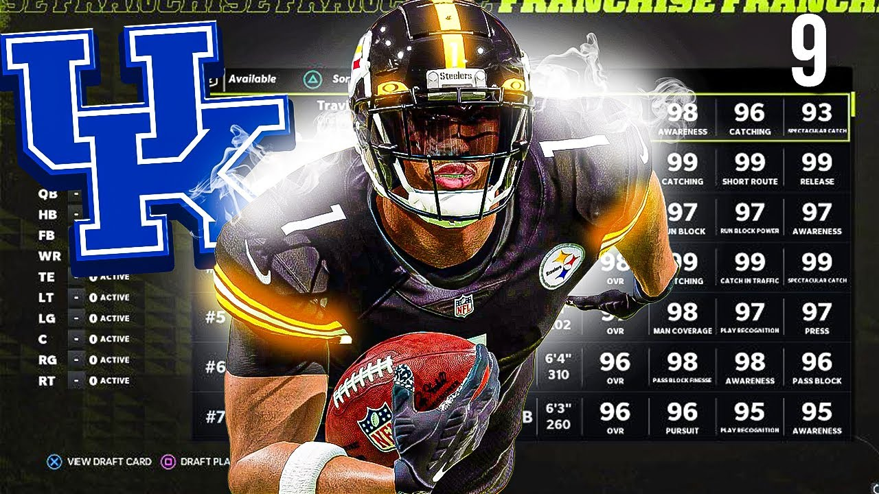 Download I Drafted the next Tyreek Hill, my new fastest player debut! Steelers Franchise #9