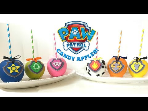 PAW PATROL CANDY APPLES w/ REMOVABLE PUP TAGS COLLAB w/ EYESEA DOUGHNUTS! - MISS TRENDY TREATS