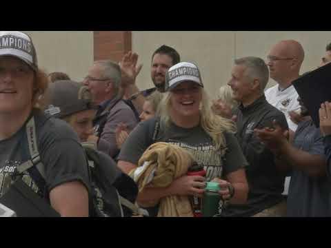 National Champion Augustana Softball Team Returns Home
