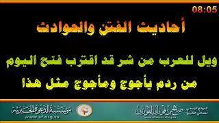 ويل للعرب من شر قد اقترب - العلامة صالح الفوزان حفظه الله