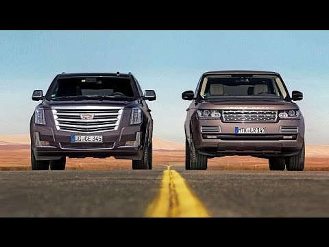 2015 Cadillac Escalade Vs Range Rover Youtube