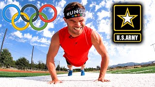Olympic Runner Attempts US Army Fitness Test With ZERO Training