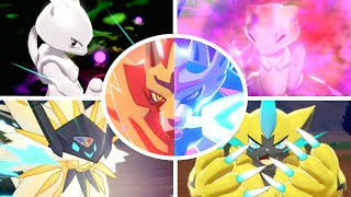 Pokémon Sword & Shield - All Legendary Pokémon + Signature Moves