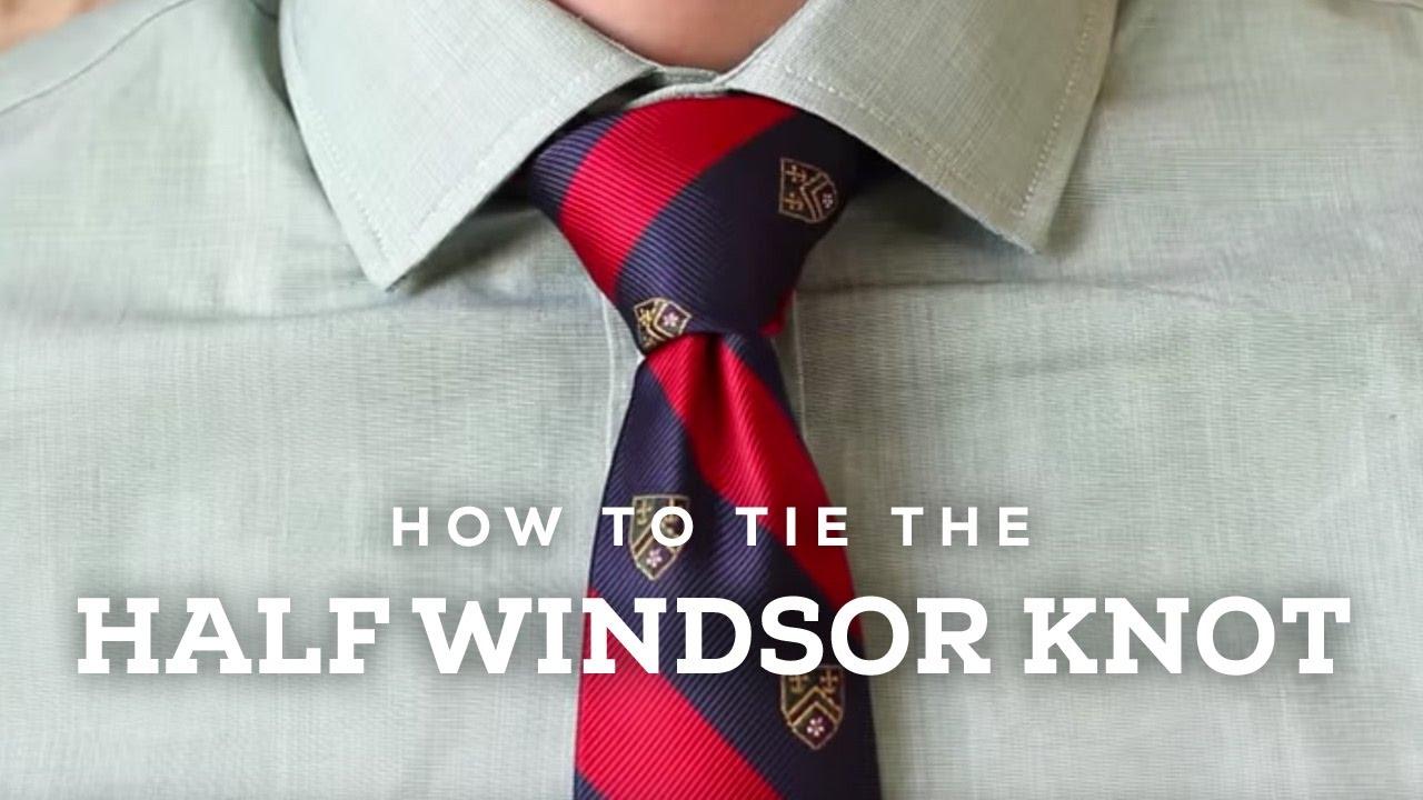 How To Tie A Half Windsor Knot   Ties.com