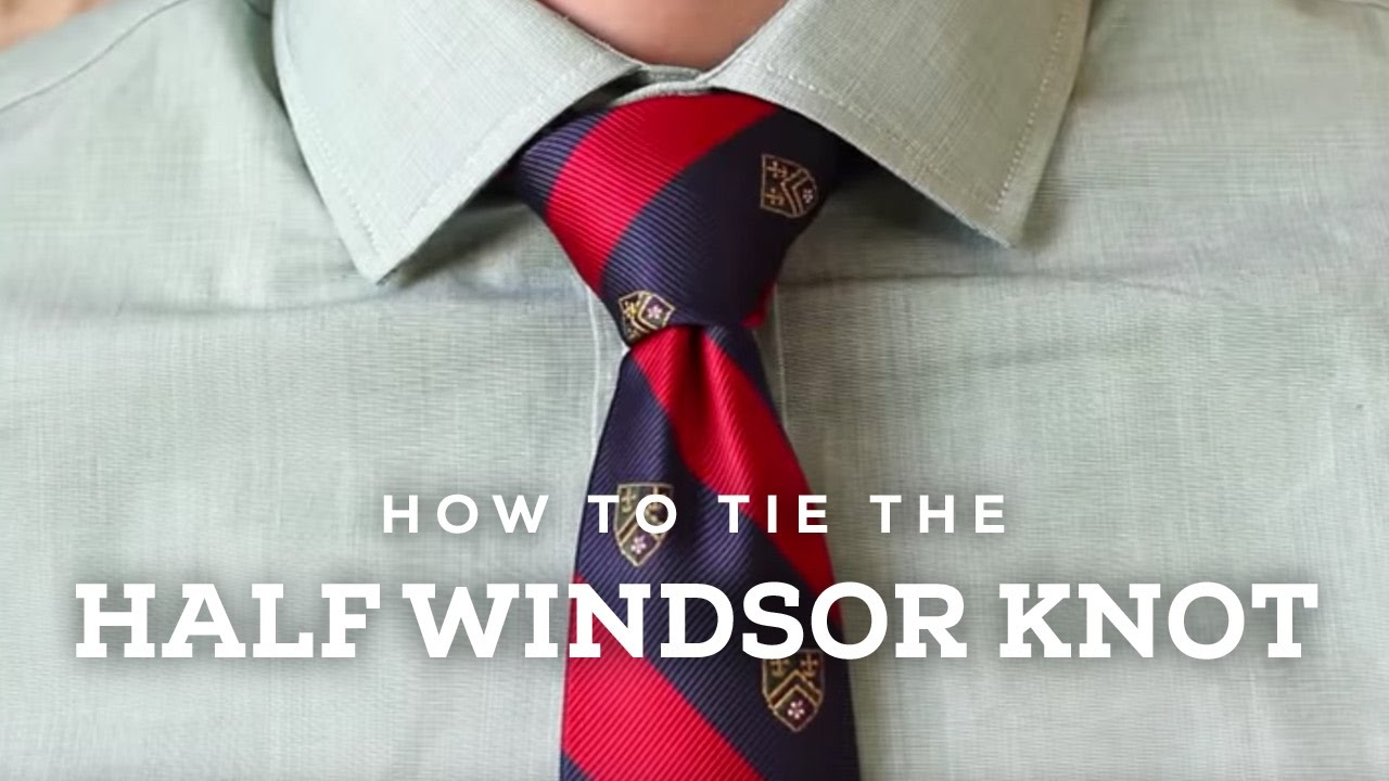 How To Tie A Half Windsor Knot | Ties.com Half Windsor Knot Diagram on