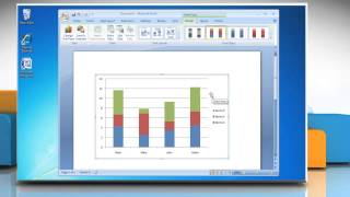 How to make a Column (Vertical Bar) Graph in Microsoft® Word 2007