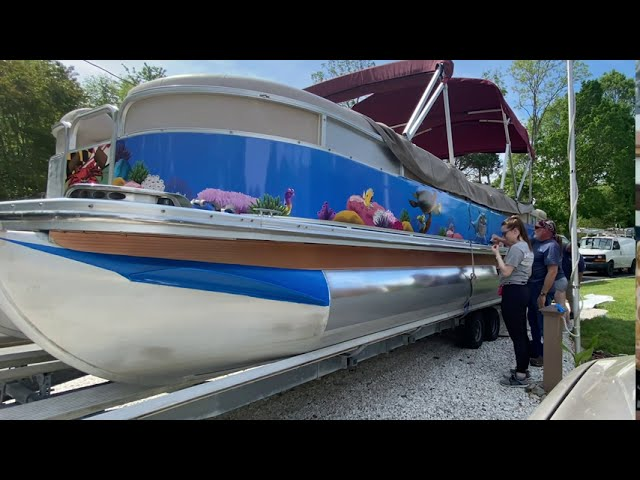 Finding Nemo Themed Pontoon Boat