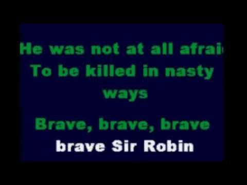 Monty Python   Brave Sir Robin Karaoke