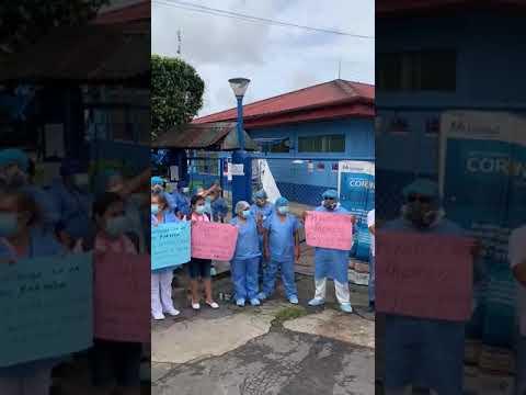 Gran plantón de protesta con toma de la avenida La Marina en Iquitos