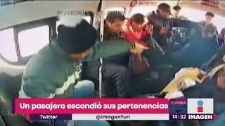 Asalto en combi de Texcoco; asaltantes golpean a pasajero antes de irse | Noticias con Yuriria