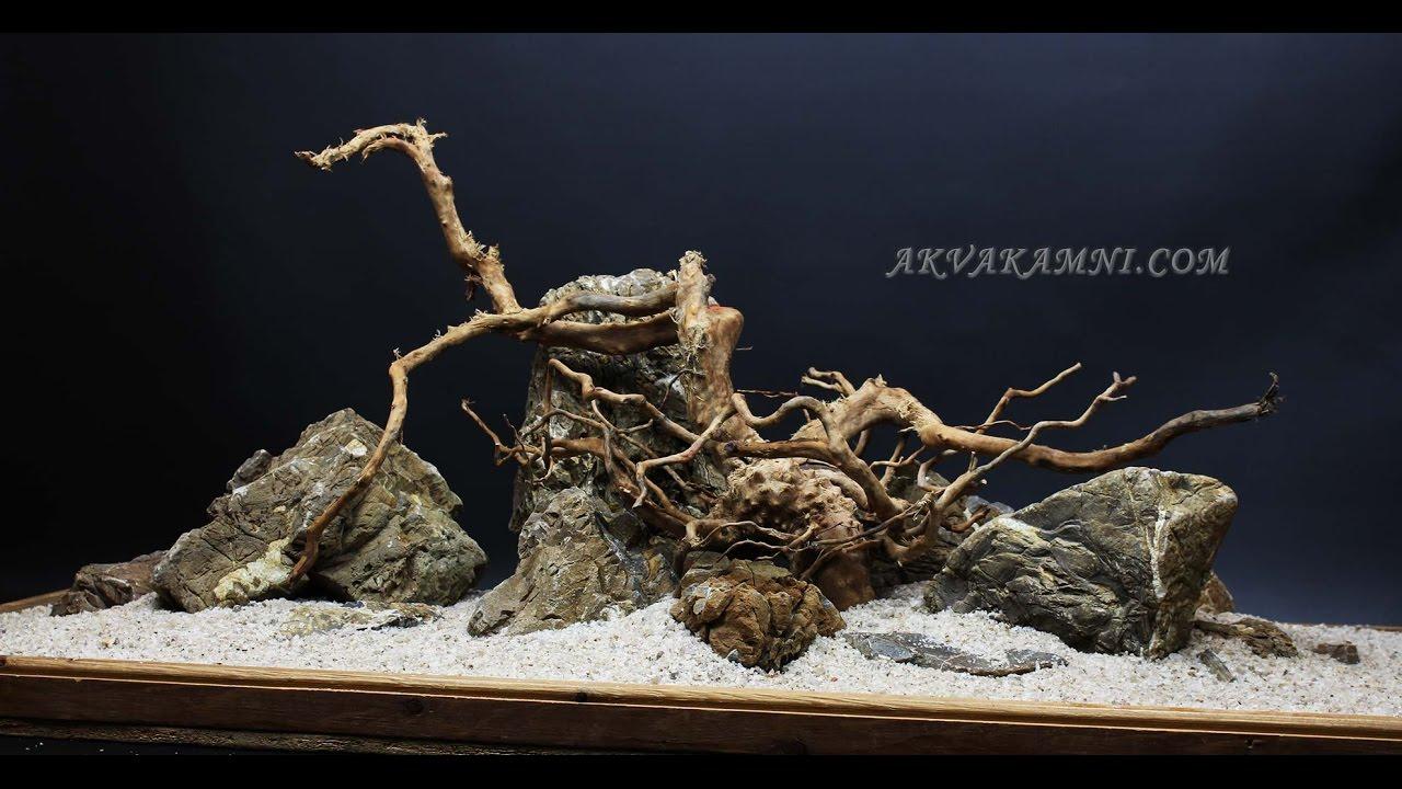 Аквариум - Натуральные камни для аквариума - YouTube