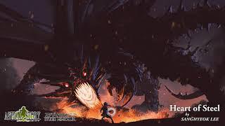 4 - 戦闘(中ボス)曲 Heart of Steel 【Composed by】 SANGHYEOK LEE 【説明】 --- 主人公の前に現れた鋼鉄の心臓のドラゴン。 逃げられる道はない。 ---