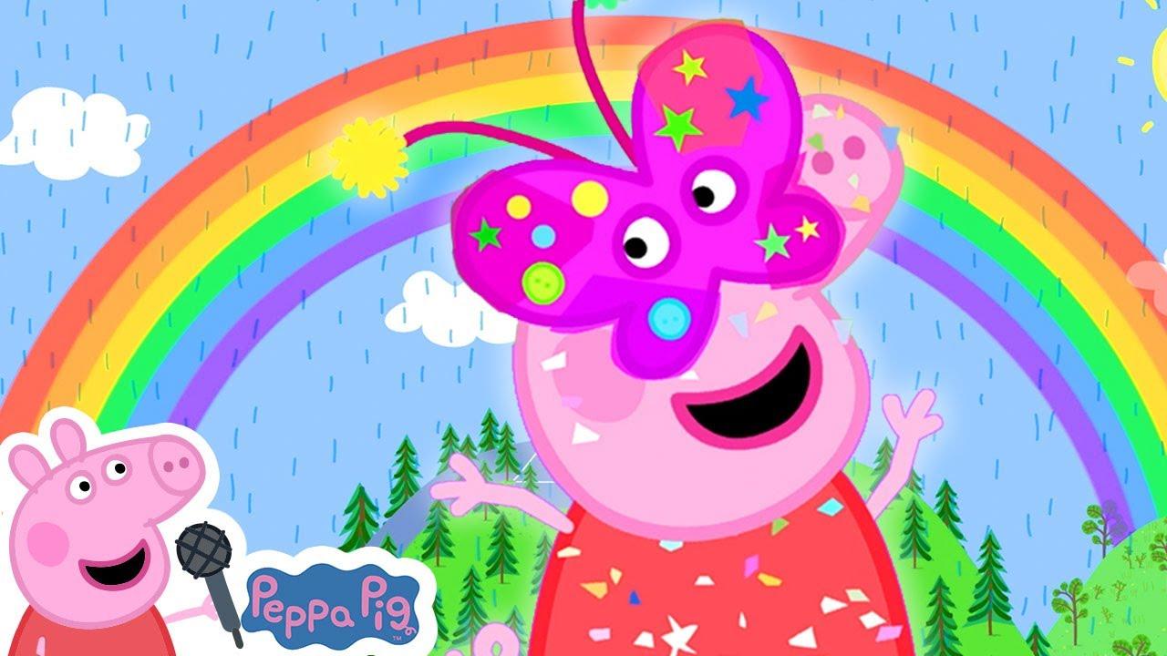 Rainbow Rainbow    Peppa Pig Songs   Peppa Pig Nursery Rhymes & Kids Songs