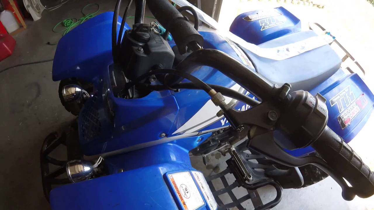 Installing A New Clutch Cable On Yamaha Blaster Youtube Wiring Diagram 1998