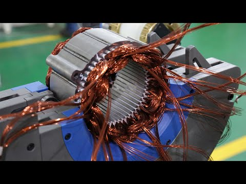 Electric Cars Motors Production - Electric ENGINE - EV Motor Factory PRODUCTION Assembly Line