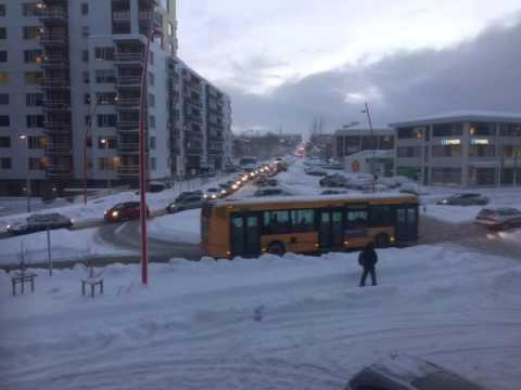Traffic in Reykjavik