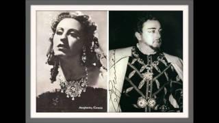 """CARLO TAGLIABUE e MARGHERITA CAROSIO  - Rigoletto  """"Solo per me... Piangi! piangi fanciulla..."""""""