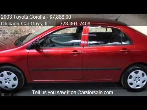 2003 Toyota Corolla Ce 1 Owner For Sale In Chicago Il 6061 Youtube