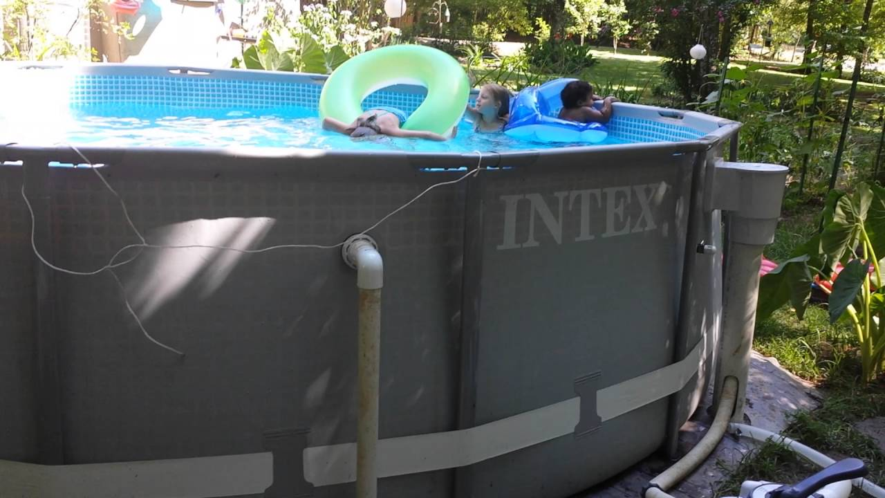 Hayward Skimmer Installation Intex 14x42 W Intex Sand Filter Youtube