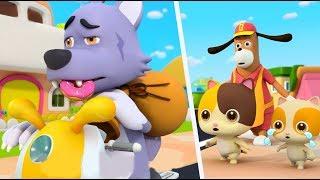 Police Cartoon: Big Bad Wolf | Play Safe Song, Learn Colors | Nursery Rhymes | Kids Songs | BabyBus
