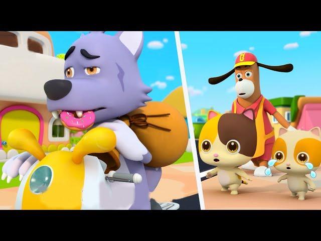 Police Cartoon: Big Bad Wolf   Play Safe Song, Learn Colors   Nursery Rhymes   Kids Songs   BabyBus