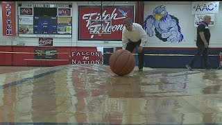 Austintown Fitch HS gym floor warped by water from broken pipe