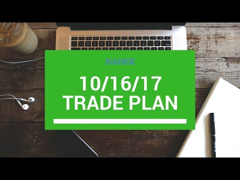 NADEX 10/16/17 Trade Plan for /ES and /NQ #Futures
