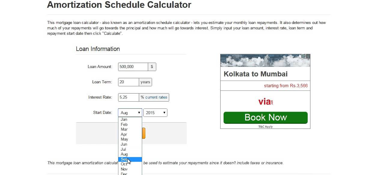 Mortgage Amortization Schedule Calculator - YouTube