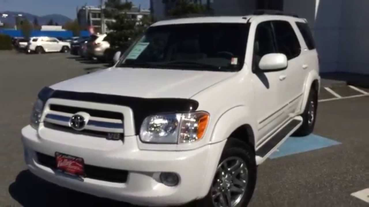 sold 2005 toyota sequoia limited preview at valley toyota scion in chilliwack b c b1432a youtube