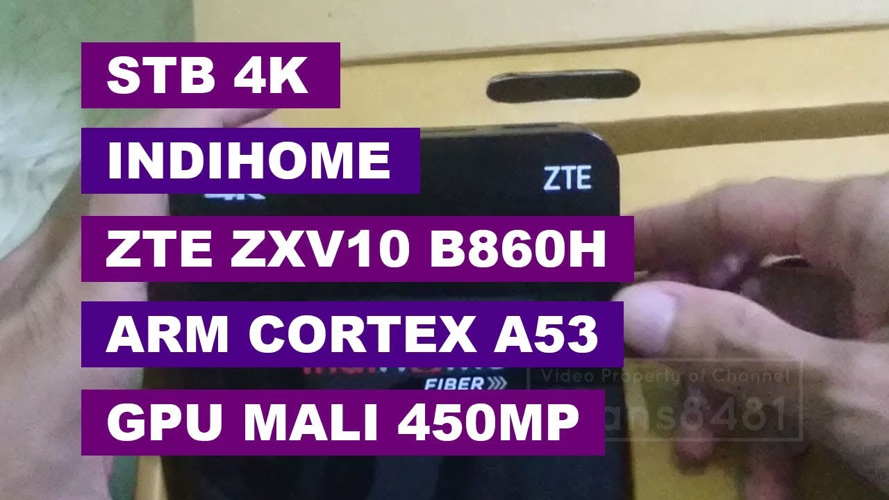 Spesifikasi STB 4K IndiHome ZTE ZXV10 B860H Unboxing & Review