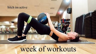 FULL WEEK OF WORKOUTS | Monday - Friday Fitness Routine | vlog