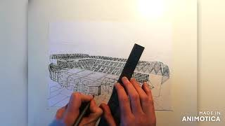 Celtic Park time lapse drawing