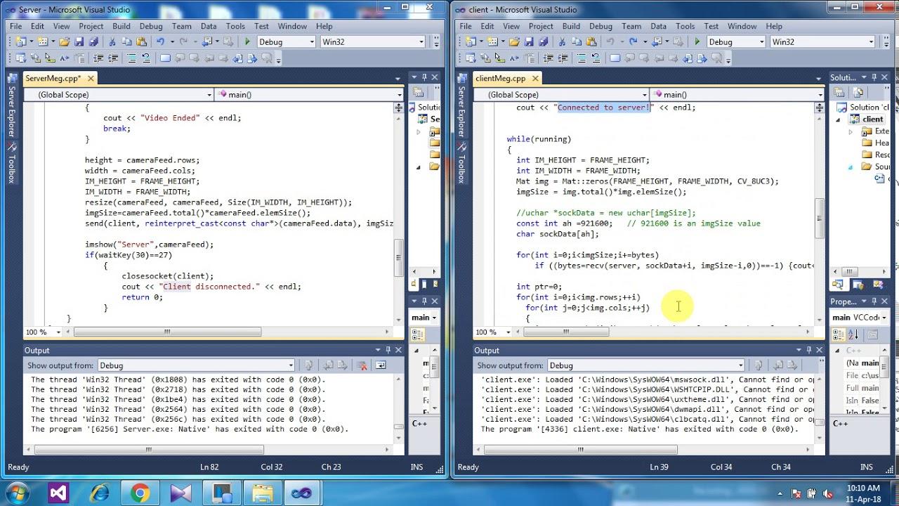 Image Sending through TCP Socket in Visual Studio C++