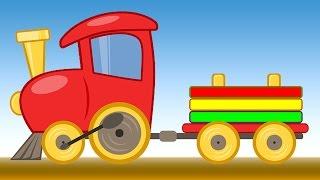 Развивающий Мультик про паровозик - Изучаем цвета - Большая сборка - Собираем паровоз