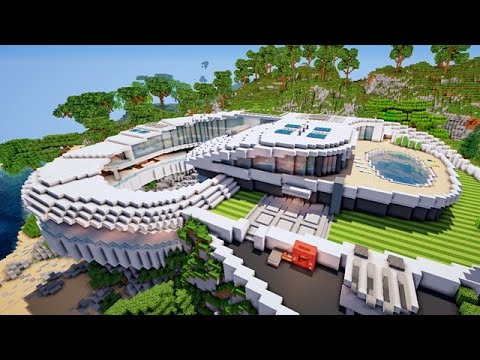 minecraft enorme villa sur falaise download youtube. Black Bedroom Furniture Sets. Home Design Ideas