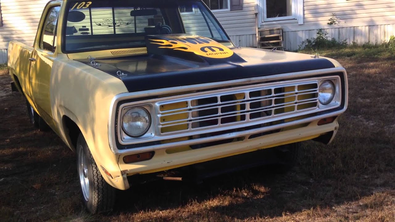 1976 Dodge D100. (Old Yeller) - YouTube