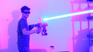 My Homemade 40W LASER SHOTGUN!!!!!