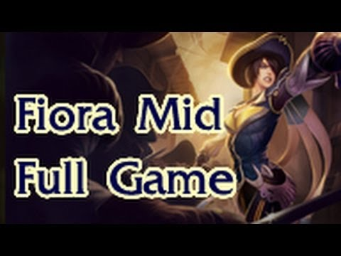 League of Legends Full Gameplay Royal Guard Fiora Mid #14